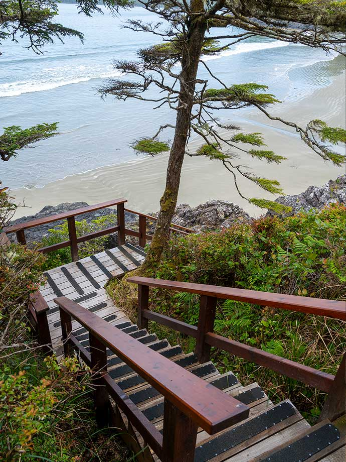 Staircase to Middle Beach